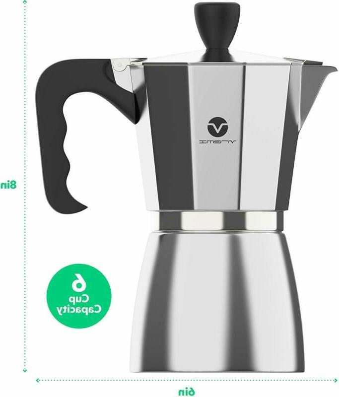 Primula Coffee Espresso Aluminum Stovetop Pot Kettle NEW