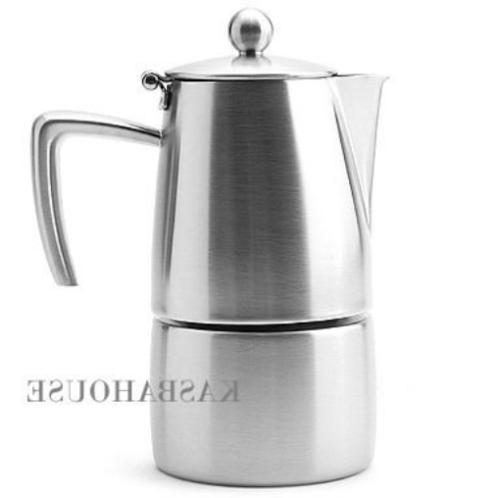 slancio stovetop espresso maker 6 cup