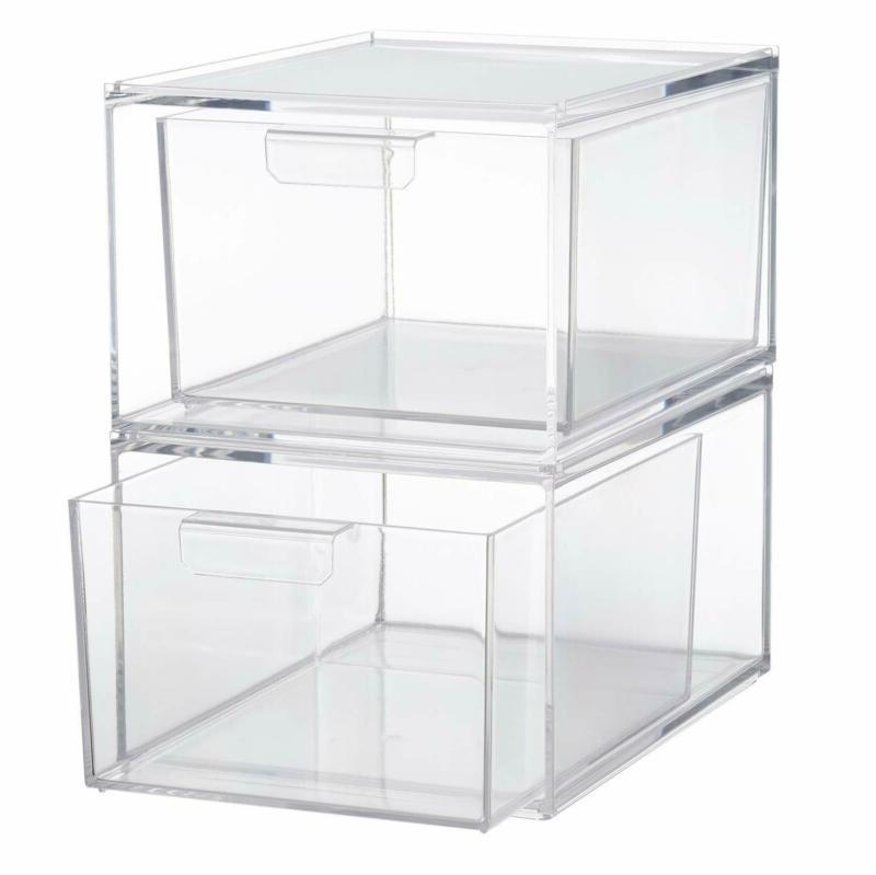 Stackable Clear Coffee Pod And Organizer Drawers Set Of