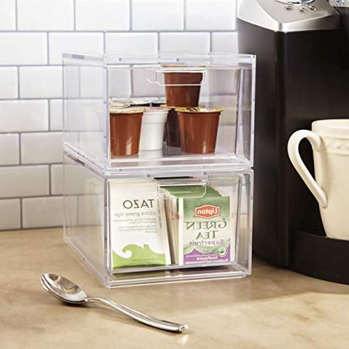 Stackable Clear Plastic Pod Tea Organizer of 2
