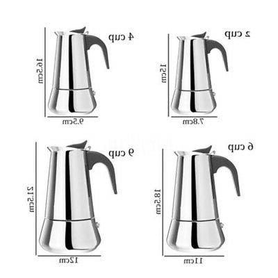 Stainless Espresso Coffee Top Pot 6 9 Cup