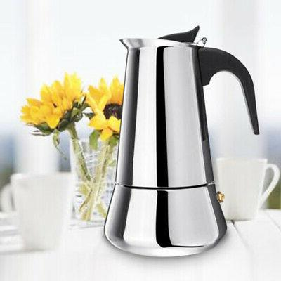 Stainless Espresso Maker Top 2 6 Cup