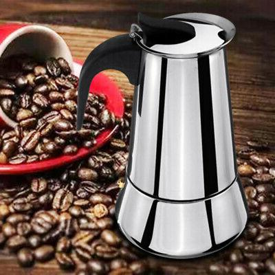 Stainless Steel Espresso Stove Top Pot 6