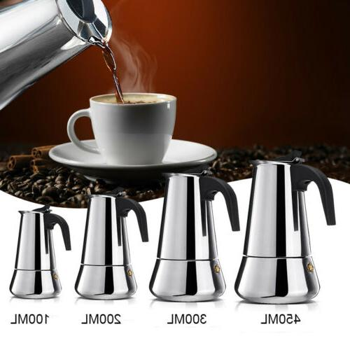 Stainless Espresso Coffee Percolator Stovetop