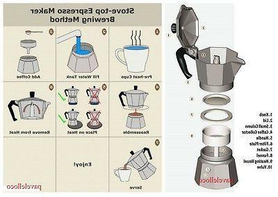 Stove Top Espresso Latte 3 Cup Cubana