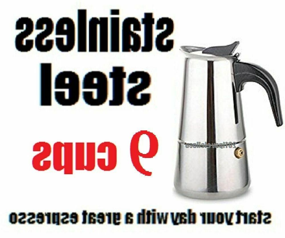 stovetop coffee maker 4 6 cup stainless