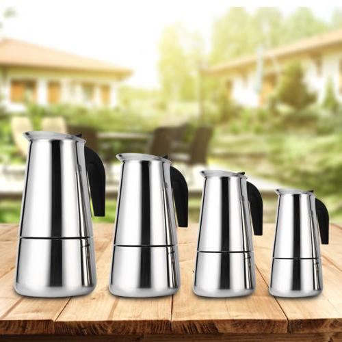 stovetop coffee maker stainless steel