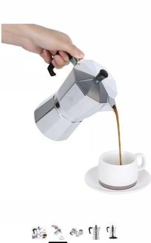 Maggift Espresso Moka Pots Coffee Aluminum