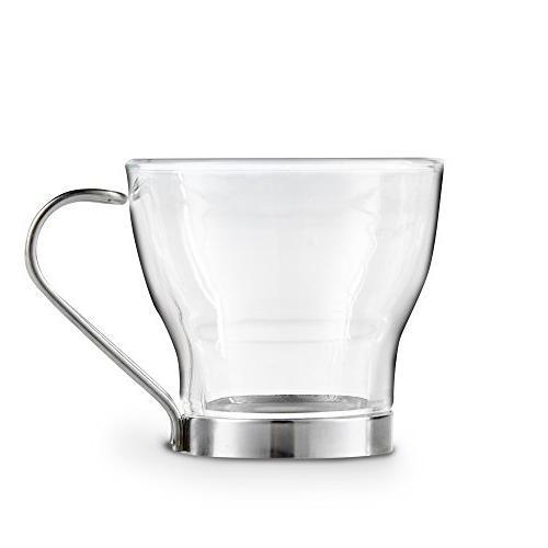 VonShef Maker Glass Demitasse Cups,