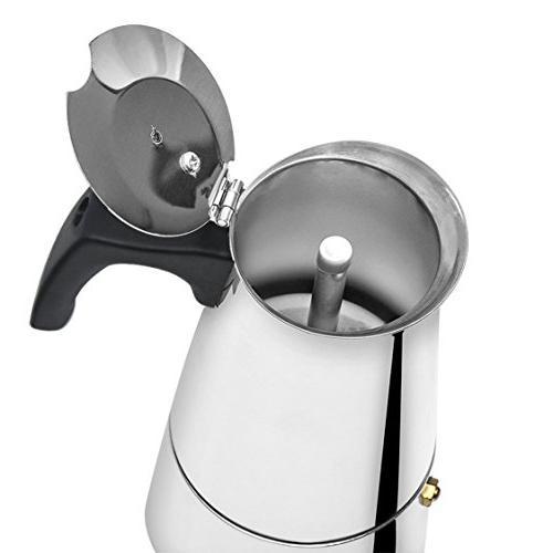 Stovetop Steel Moka Maker 9 Cup