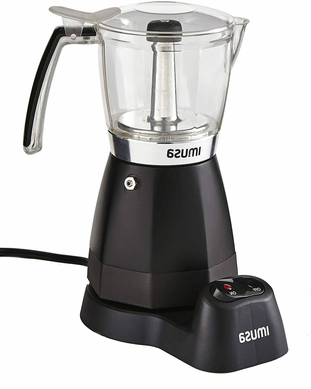 IMUSA USA Electric Coffee Maker Espresso Cappuccino 3/6 Cup