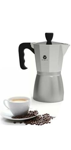 Vremi Stovetop Espresso Maker - Moka Pot Coffee Maker-Stove