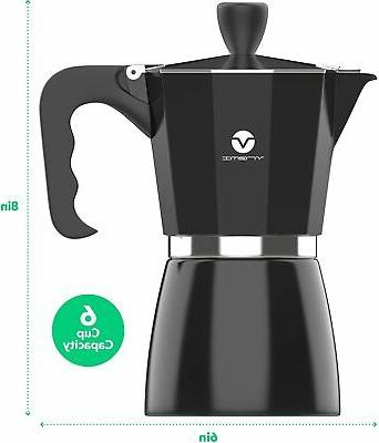 Vremi Stovetop Espresso Maker - Maker Gas or Silver