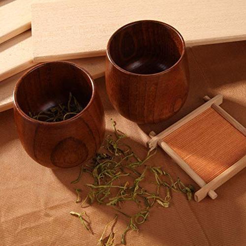 wood tea cup