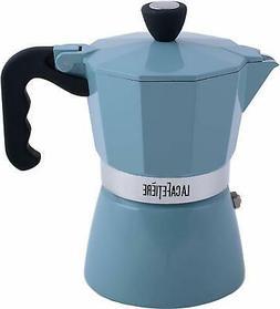 La Cafetiere Espresso Maker Classic Retro Blue 3 Cup