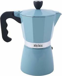LA CAFETIERE Retro Blue 6 Cup Classic ESPRESSO COFFEE MAKER
