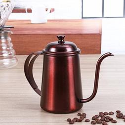 QIN.J.FANG Long Mouth Coffee Pot Stainless Steel Moka Pot Es