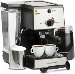 Espresso Machine Coffee Maker Bundle Grinder Stainless Steel