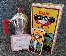 "Alessi MDL02/1 R""Pulcina"" Stove Top Espresso 1 Cup Coffee Ma"