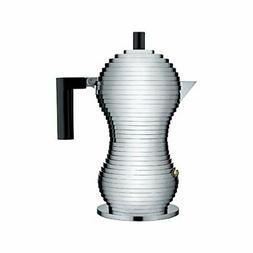 "Alessi MDL02/3 B ""Pulcina"" Stove Top Espresso 3 Cup Coffee M"