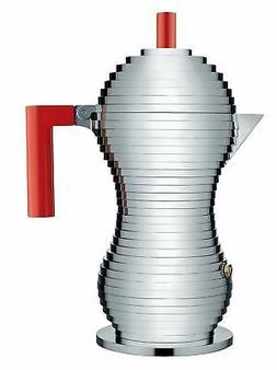 "Alessi MDL02/6 R""Pulcina"" Stove Top Espresso 6 Cup Coffee Ma"