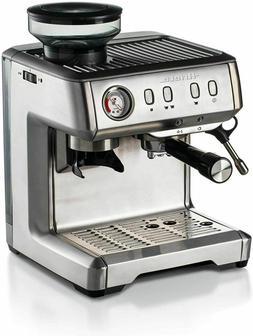 Metal Espresso Machine with Grinder, Coffee Maker, 1600W US