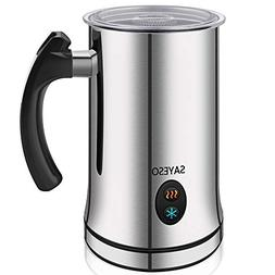 Milk Frother, Electric Milk Steamer with Hot or Cold Functio