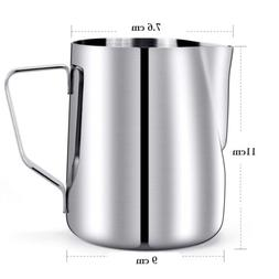 Milk Frothing Pitcher 20oz Stainless Steel Cup Perfect Latte