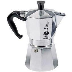 Bialetti Moka Espresso Coffee Maker 3 Cup Perculator Stove T