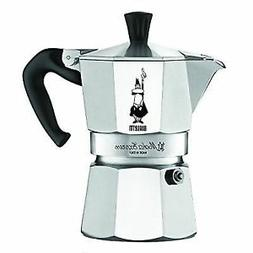 Bialetti Moka Express Coffee Pot Stovetop Red Handle 3 Cup E