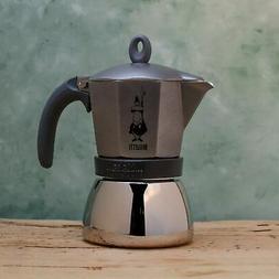 Bialetti Moka Induction Grey Coffee percolator Stovetop Coff