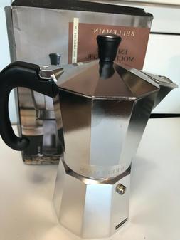 moka pot espresso maker 6 cup 12oz
