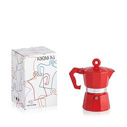 Illy Moka Pot, Red for 3 Cups