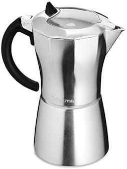 aerolatte Moka Stovetop Espresso Pot Coffee Maker, 9 Cup Cap