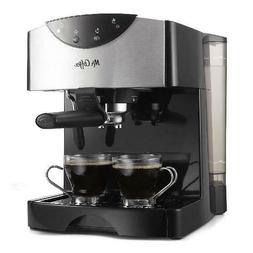 Mr. Coffee 2 Shot Pump Black Espresso & Cappuccino Maker