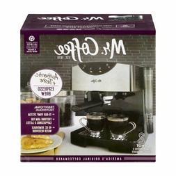 Mr. Coffee® 2 Shot Pump Espresso  Cappuccino Maker Black W