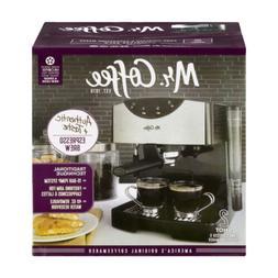 Mr Coffee 2 Shot Pump Espresso + Cappuccino Maker Kitchen Br