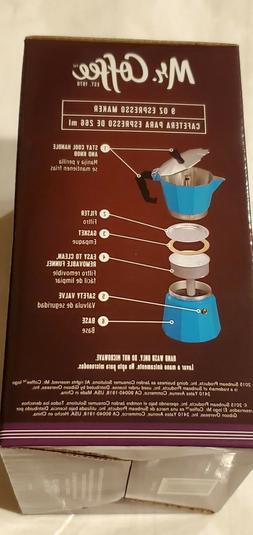 Mr. Coffee Blue 9 oz  Aluminum ESPRESSO Maker - Brand New In