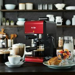 Mr. Coffee BVMC-ECM270R Steam Espresso Maker - Red