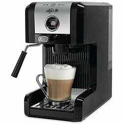 Mr. Coffee Easy Espresso Maker, 6 Piece, Chrome/Black Kitche