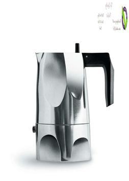"Alessi Mt18/3""Ossidiana"" Stove Top Espresso 3 Cup Coffee Mak"