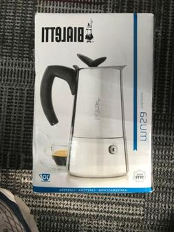 Bialetti Musa 10 Cup Stainless Steel Espresso Maker