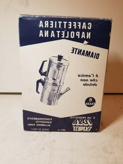 ILSA 30-6 6-Cup Neopolitan Espresso Maker, Aluminum