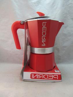 NEW Pedrini Aroma Color RED coffee espresso maker