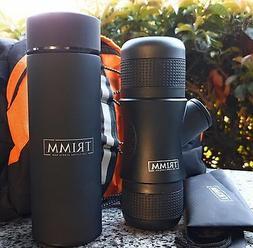 NEW Mini Portable Espresso Manual Coffee Maker & Thermos Bot