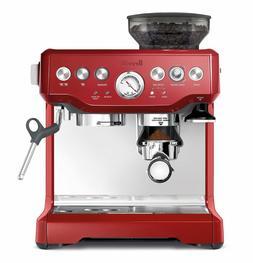 new red barista express coffee machine