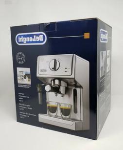 NIB DELONGHI Espresso Cappuccino Maker 15 Bar Machine Stainl