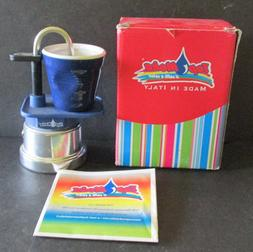 Top Moka NIB Espresso Maker Stovetop Mini  Complete With Blu