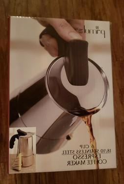 NIB PRIMULA PES-4606  ESPRESSO COFFEE MAKER STOVE TOP 6 CUP