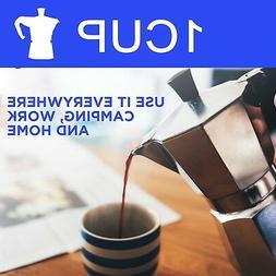 One Cup Espresso Coffee Maker, Cafetera Cubana Italiana Cafe